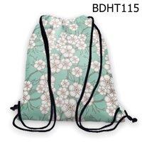 Túi rút hoa đào trắng - BDHT115