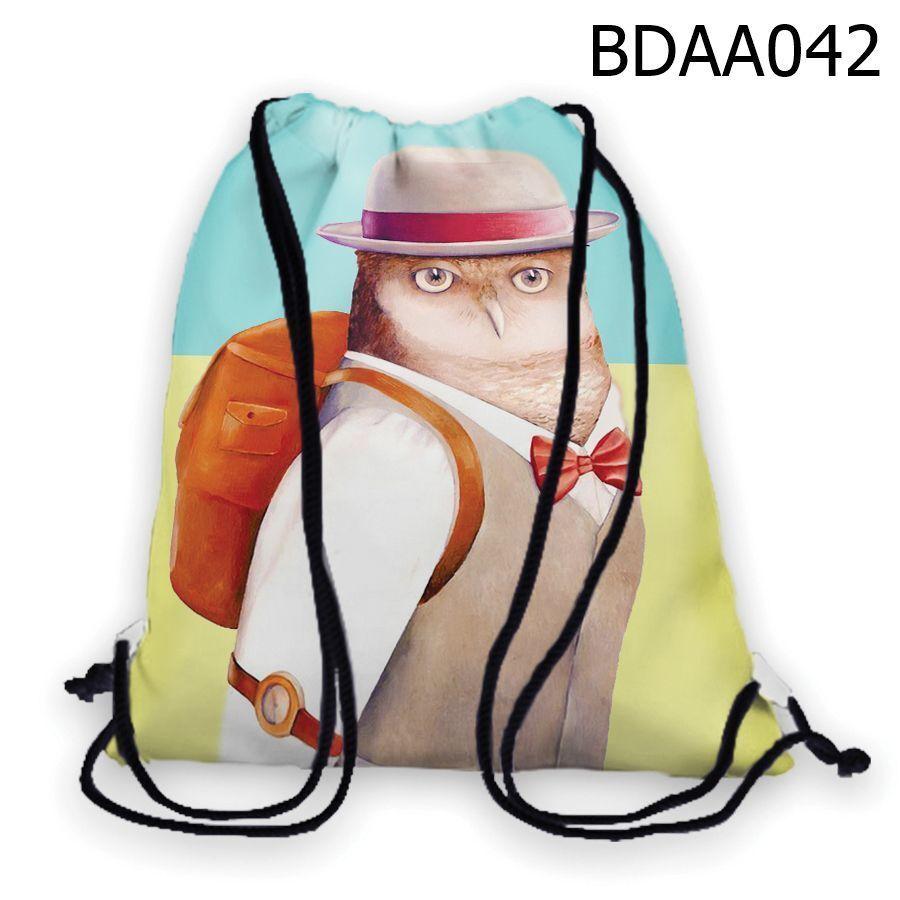 Túi rút in hình Cú đi học BDAA042
