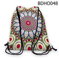 Túi rút lá xếp hình tròn - BDHO048