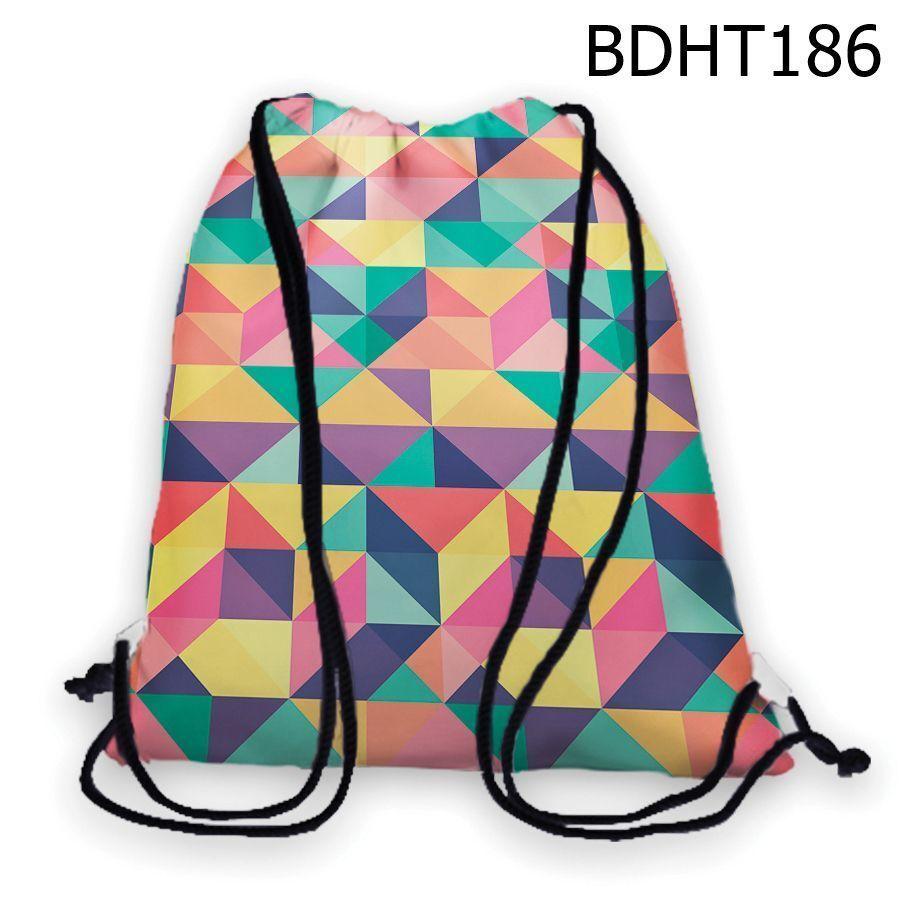 Túi rút tam giác hình học nhiều màu – BDHT186