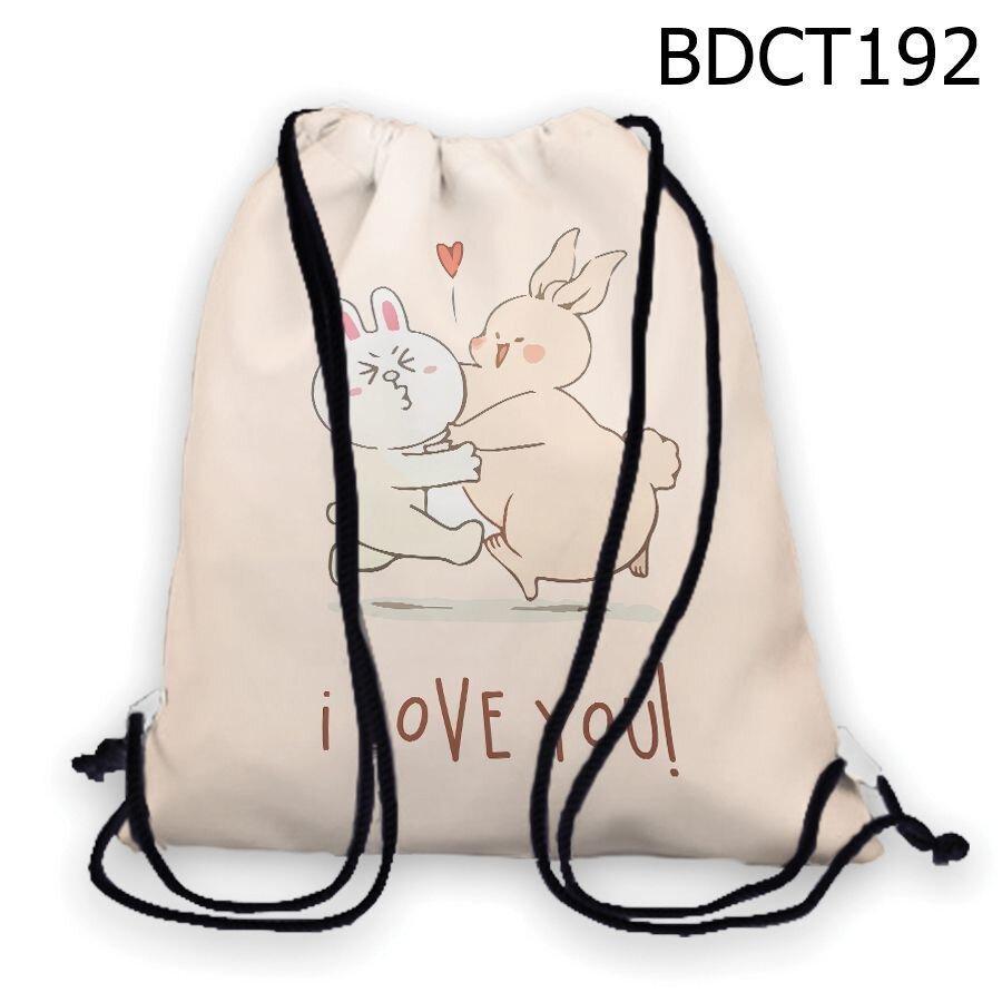 Túi rút Thỏ I love you - BDCT192