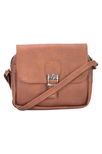 Túi xách 1 khóa Huy Hoàng màu bò đậm - HH6102