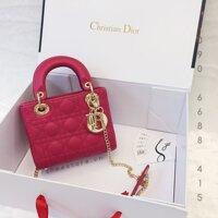 Túi xách Dior Lady 3 ô da bóng Fake1