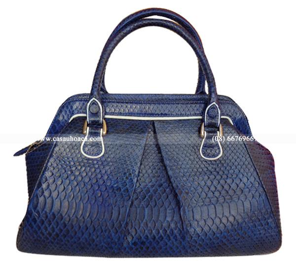 Túi xách nữ da trăn Hoa Cà – 9549