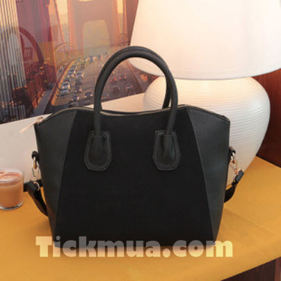 Túi xách phối màu trang nhã (Màu đen)_T1513
