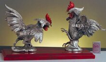 Tượng 2 con gà trống Italy Fighting roosters 209
