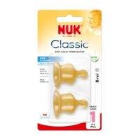 Ty thay bình sữa cao su Nuk số 1 đôi (L)-701006