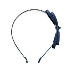 Băng đô cài tóc kim loại bọc satin xanh Chic Et Plus CEP240103B