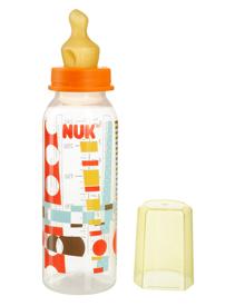 Bình sữa nhựa PP núm cao su cổ thường Nuk - 240ml