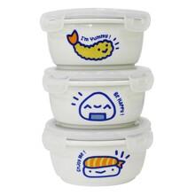 Bộ 3 hộp cơm sứ Dong Hwa B1505-01S301