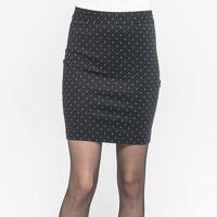 Chân váy ôm họa tiết chấm bi Lamer LMT02605614