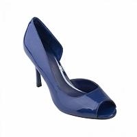 Giày cao gót hở mũi màu xanh-BHM 0395 - màu BLU , CRE , BLK , RED