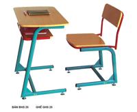 Bộ bàn học sinh liền ghế BHS25-1