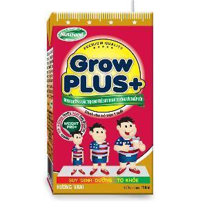 Sữa bột pha sẵn Nuti Grow Plus đỏ - 110 ml (Thùng 48 hộp)