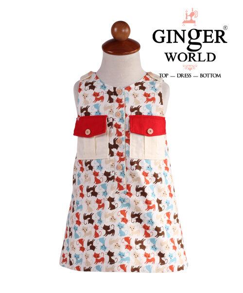 Váy đầm cho bé gái Ginger World CAT-LD216