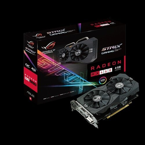 VGA card Asus ROG STRIX-RX460-O4G GAMING (AMD Radeon/ 4Gb/ DDR5/ 128 Bits)