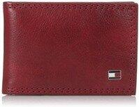 Ví nam cao cấp da thật màu đỏ Tommy Hilfiger Men's Jerome Front-Pocket Wallet (Mỹ)