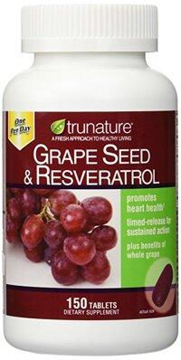 Viên chống oxy hóa chiết xuất từ nho TruNature Grape Seed & Resveratrol