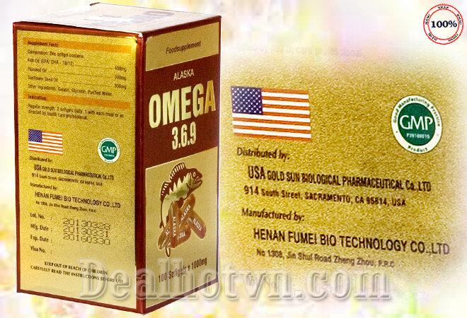 Viên dầu cá Omega 3.6.9 ALASKA 100 viên