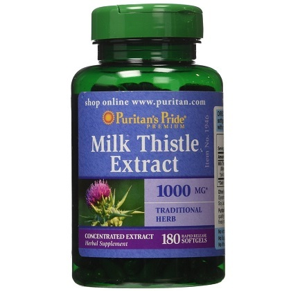 Viên hỗ trợ gan Milk Thistle Puritan Pride – 1000mg, 180 viên