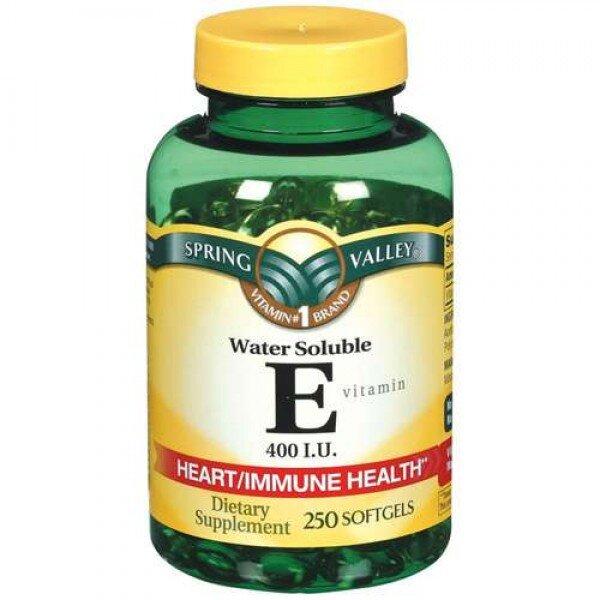 Viên nang bổ sung Vitamin E Spring Valley 100 viên