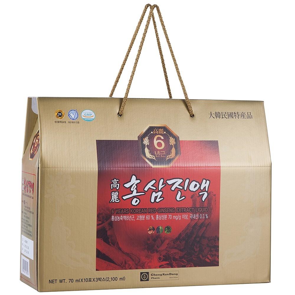 Viên nang hồng sâm 6 Years Korean Red Ginseng – 120 viên x 2 hộp