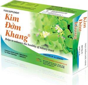 Viên nang Kim Đởm Khang - hỗ trợ điều trị sỏi mật, hộp 30 viên