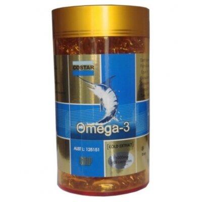 Viên nang mềm dầu cá Omega 3 Costar (1000mg x 365 Viên)