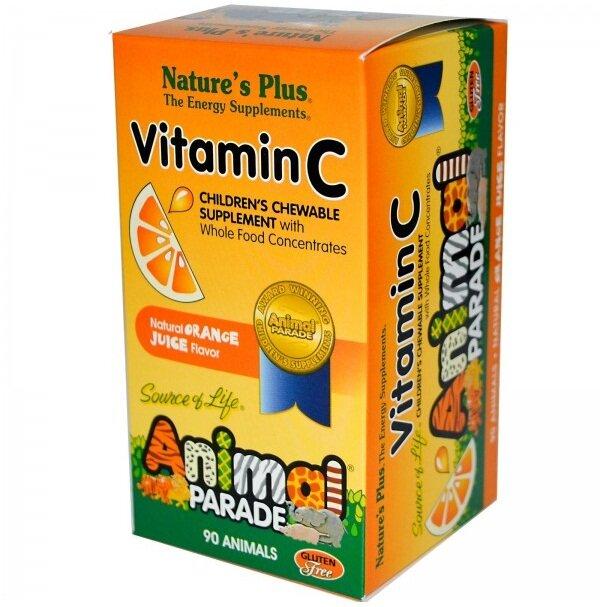 Viên ngậm vitamin C Animal Parade Vitamin C Children's Chewable