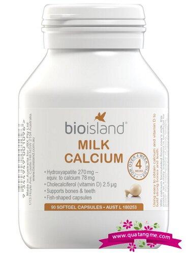 Viên sữa bổ sung canxi cho bé Bioisland Milk Calcium - 90 viên