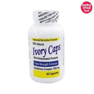Viên Trắng Da Trị Nám Số 1 Của Mỹ Ivory Caps (1500mg x 60 Viên)