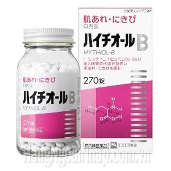 Viên trị mụn trứng cá và viêm nang lông Hythiol-B 270 viên