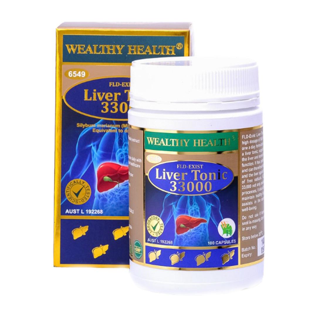 Viên uống bổ gan và giải độc gan Wealthy Health Liver Tonic 33000 100 viên