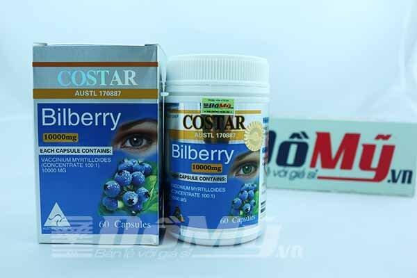 Viên Uống Bổ Mắt Bilberry Costar 10000mg x 60 Viên