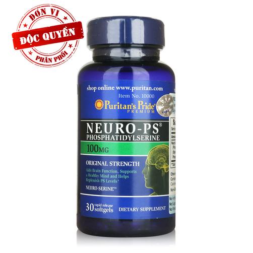 Viên uống bổ não Puritan's Pride Neuro-PS Phosphatidylserine 100mg 60 viên