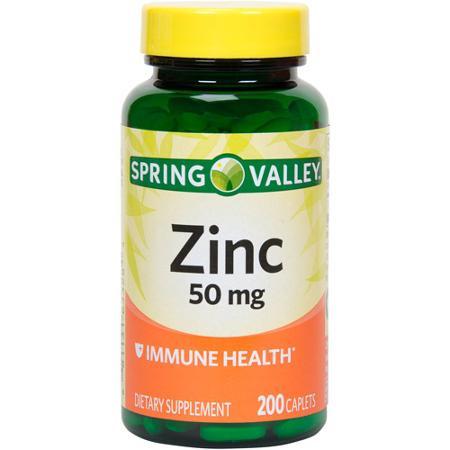 Viên uống bổ sung kẽm Zinc Spring Valley 50mg 200 viên