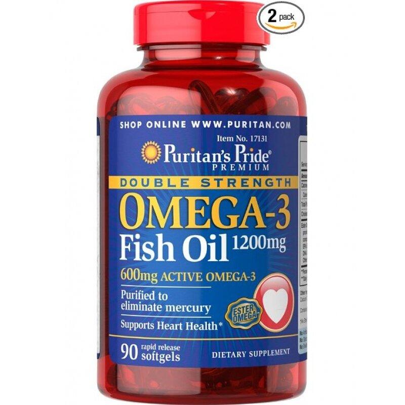 Viên uống bổ sung Omega 3 -Fish oil 12000mg- Double strength Puritan's Pride