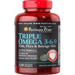 Viên uống bổ sung Omega chăm sóc tim mạch Puritan's Pride Triple Omega 3-6-9 – 120 viên