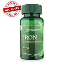 Viên uống bổ sung sắt Puritan's Pride Iron 100 viên