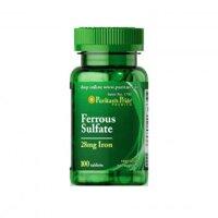 Viên uống bổ sung sắt Puritan's Pride Ferrus Sulfate 28mg Iron 100 viên