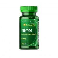 Viên uống bổ sung sắt Puritan's Pride Ferrous Sulfate 65mg Iron 100 viên