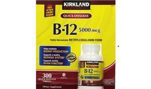 Viên uống bổ sung Vitamin B12 Kirkland Signature B12 5000 mcg 300 viên