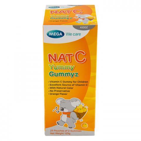 Viên uống bổ sung vitamin C hàng ngày Nat C yummy gummyz