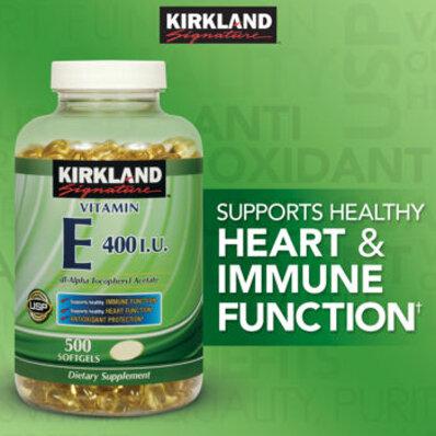 Viên uống bổ sung Vitamin E Kirland Vitamin E 400 IU 500 viên
