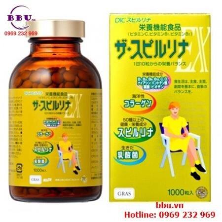 Viên uống bổ sung vitamin tảo vàng Dic Gras EX Vitamin 500 viên của Nhật