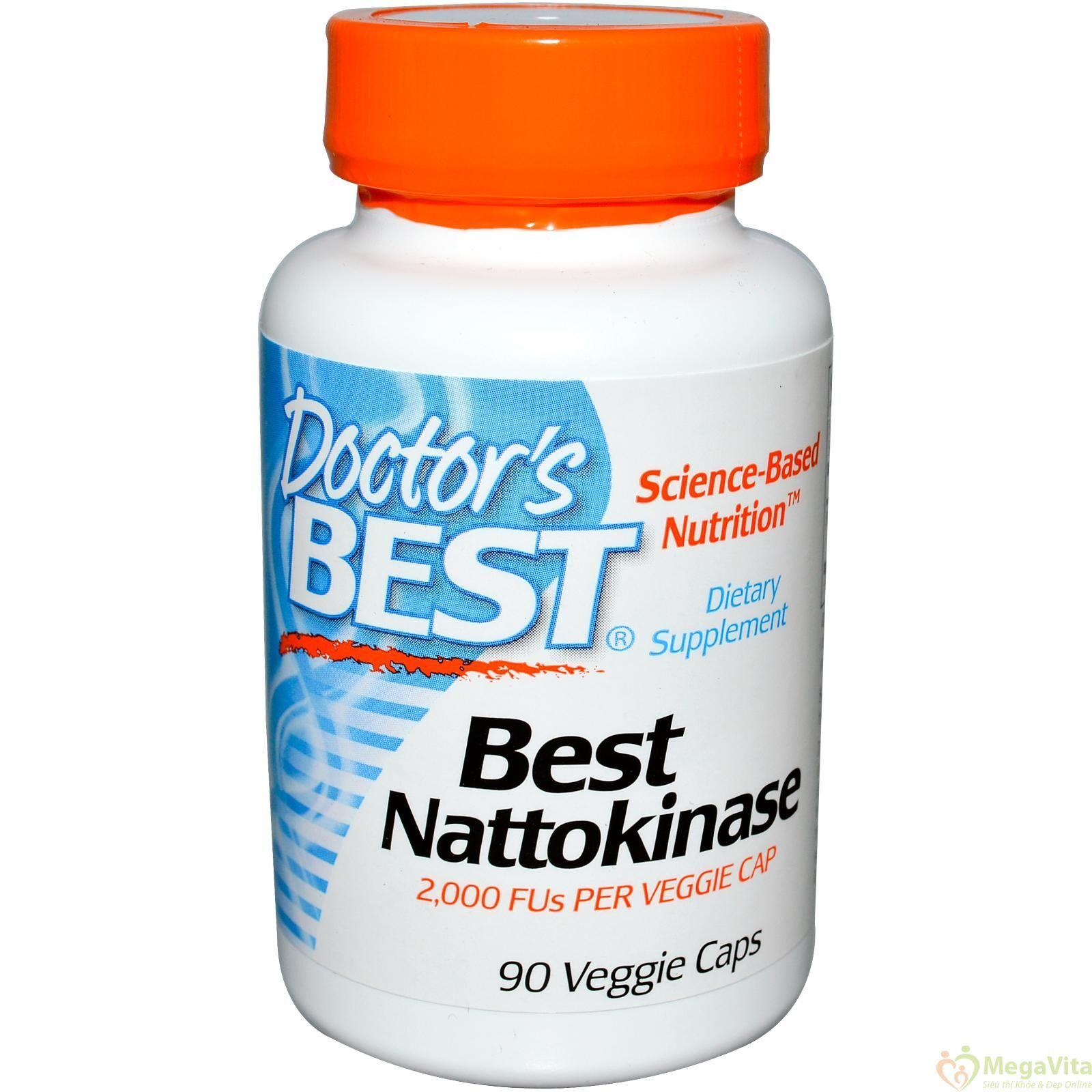 Viên uống bổ tim mạch và ngăn ngừa đột qụy Doctor's Best Nattokinase 90 viên