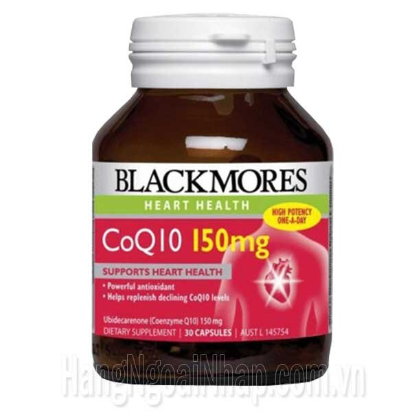 Viên uống bổ tim mạch Blackmores CoQ10 150mg 30 viên