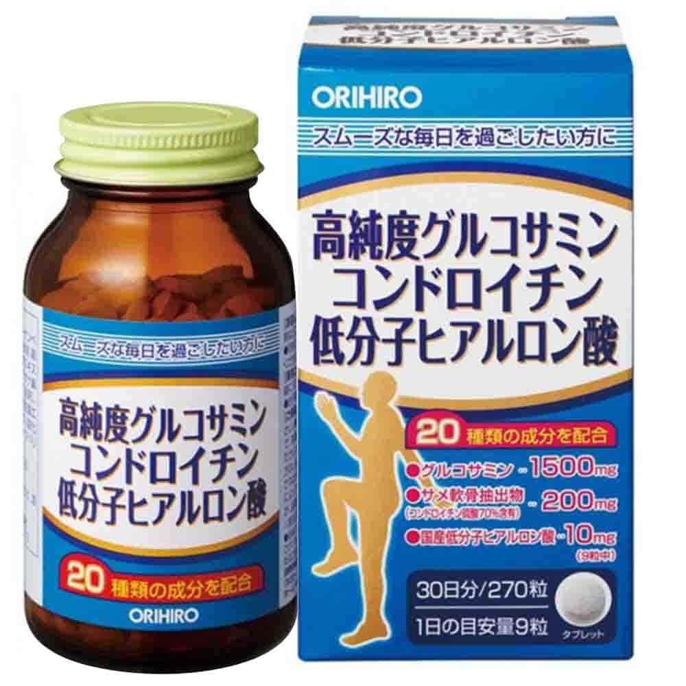Viên uống bổ xương khớp Orihiro Glucosamine Chondroitin Hyaluronic Acid 270 viên