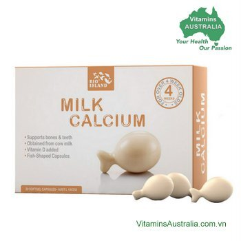 Viên Uống Chiết Xuất Từ Sữa Bò Bio Island Milk Calcium - 30 viên