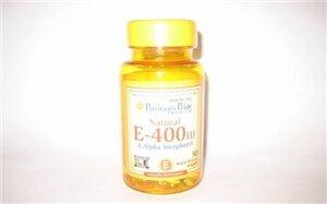 Viên uống chống lão hóa, bảo vệ tim mạch Puritan's Pride Vitamin E 400 IU 50 viên